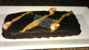 "Noor's Clean Black Bean Brownie w/ Sunnah ""Caramel"" Drizzle"