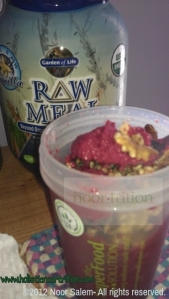 Raw meal w/ organic berries blend and raw walnuts...My specialty.