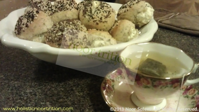 Served with tea in the Salem's household. Mama's organic gluten free oregano buns.