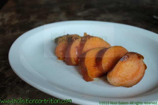 Noor's simply roasted sweet potato.