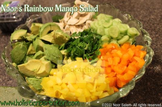 Noor's Rainbow Mango Salad